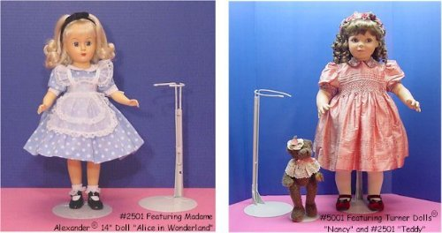 Kaiser Metal Doll Stands For Dolls 12 To 20 Inches Tall