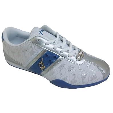 Amazon.com: Baby Phat Women's Estelle White Blue Athletic Fashion