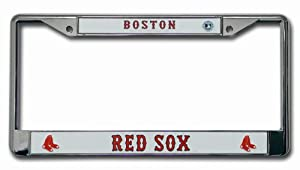 MLB Boston Red Sox Chrome License Plate Frame
