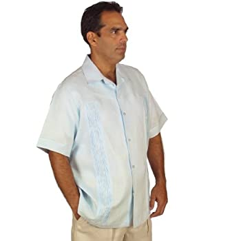 Embroidery Shirt for Men, size 5x & light blue.