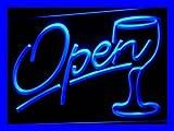 ADV-PRO-i536-b-Script-OPEN-Glass-Cocktails-Bar-Neon-Light-Sign