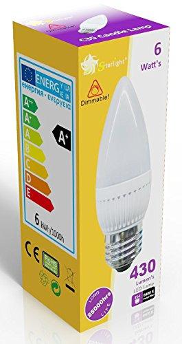 starlight-gu10-dimmable-led-ampoule-flamme-opaque-avec-culot-a-vis-e27-blanc-jour-6400-k-equivalente