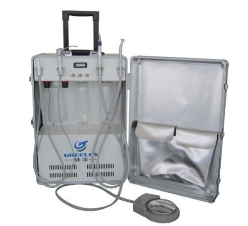 New Portable Dental Turbine Unit With Air Compressor Syringe High Low Handpiece Do Supply