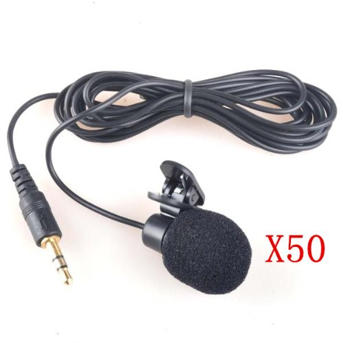 Neewer 50X 3.5Mm Hands Free Computer Clip On Mini Lapel Microphone (50X Lapel Microphone)