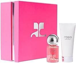 COURREGES Coffret Rose Eau de Parfum Vaporisateur 50 ml et Emulsion Parfumée pour le Corps 100 ml