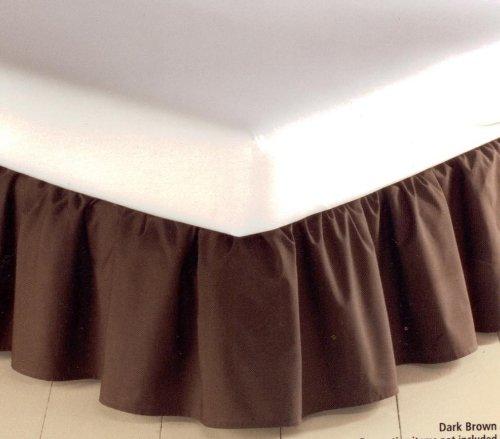 MAINSTAYS 180 Thread count Bedskirt TWIN Dark Brown Bed Skirt