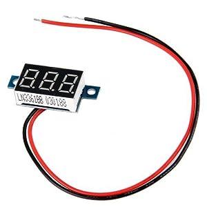 FACILLA® Mini Digital Voltmeter LED Spannungsanzeige Panelmeter 3.3-30V Rot