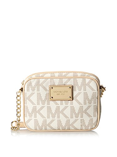 Michael Michael Kors Mk Logo Crossbody Bag,Vanilla,One Size