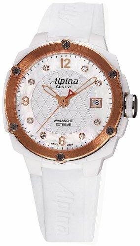 Alpina Geneve Avalance Extreme Ceramic AL-240MPWD3AEC4 Reloj para mujeres con diamantes genuinos