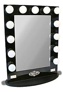 Amazon.com - Broadway Lighted Vanity Mirror (Gloss Black, 36.25