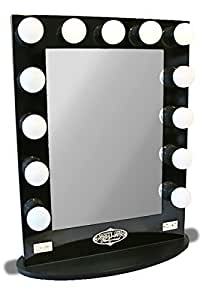 Broadway Lighted Vanity Mirror Gloss Black : Amazon.com - Broadway Lighted Vanity Mirror - Gloss Black