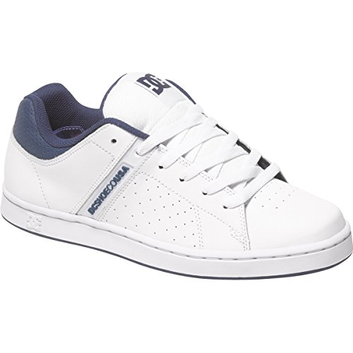 DC Mens Wage Shoes, White/Navy, 10.5D