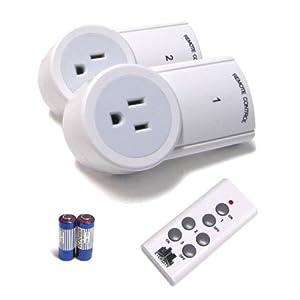 christmas etekcity 2 pack wireless remote control outlet remote light. Black Bedroom Furniture Sets. Home Design Ideas