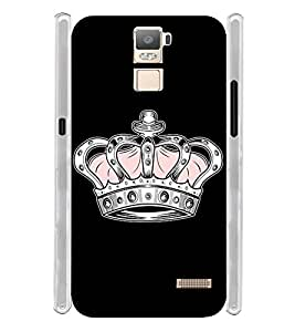 Princess Queen Crown Soft Silicon Rubberized Back Case Cover for Oppo R7 Plus