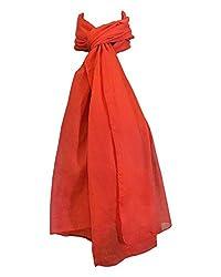 Shiborika Women's Stole (SS-R-10, Red)
