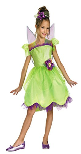 Girls Tinker Bell Rainbow Deluxe Kids Child Fancy Dress Party Halloween Costume