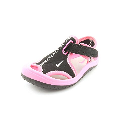 Nike Sunray Protect (Td) Toddler Girls Size 10 Black Fisherman Sandals Shoes front-1064460