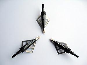 96 Pcs 100gr 3 Fixed Blades Black Eagle Hunting Broadhead