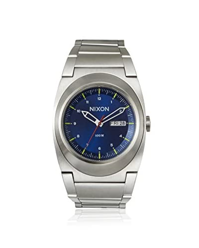 Nixon Men's A358-1258 The Don Silver/Blue Stainless Steel Watch