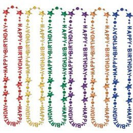 Happy Birthday Bead Necklaces