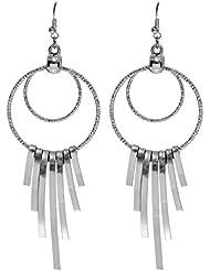 Eternz Silver Plated Drop Earrings For Women (EZEA012)