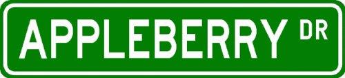 APPLEBERRY Street Sign ~ Personalized Family Lastname Sign ~ Gameroom, Basement, Garage Sign ** ALUMINUM - Buy APPLEBERRY Street Sign ~ Personalized Family Lastname Sign ~ Gameroom, Basement, Garage Sign ** ALUMINUM - Purchase APPLEBERRY Street Sign ~ Personalized Family Lastname Sign ~ Gameroom, Basement, Garage Sign ** ALUMINUM (The Lizton Sign Shop, Home & Garden,Categories,Patio Lawn & Garden,Outdoor Decor)
