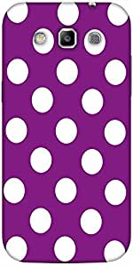Snoogg Purple Polka Dot Solid Snap On - Back Cover All Around Protection For ...