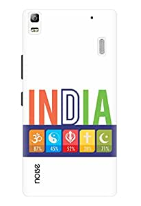 Noise Secular India White Printed Cover for Lenovo K3 Note
