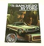 1971 71 Ford RANCHERO BROCHURE Truck 500 GT Squire