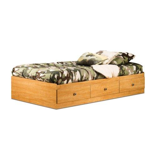 Zach Twin Storage Bed Harvest Maple front-61168