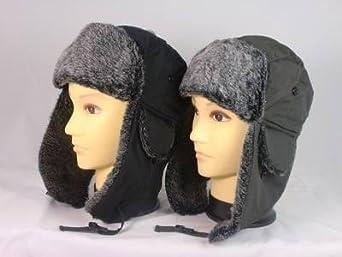 Adult Showerproof Winter Trapper Hat (HAI732) - Choose 1 (59cm, Black)