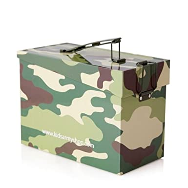 Kids Army Camo Ammo Tin - Toy Box, US Army Style