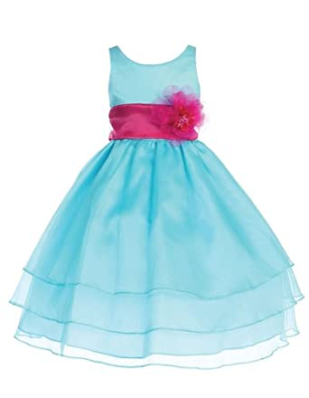 Amazon.com: CALLA Yoryu Chiffon Flower Girl Dress: Special Occasion