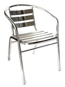 sedie alluminio impilabili per bar da interno o esterno: Amazon.it ...