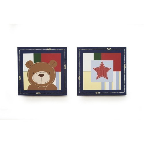 Kids Line Oxford Bear 2-Piece Canvas Wall Art - 1
