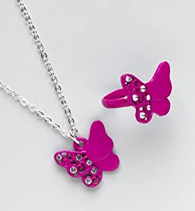 Diamanté Butterfly Necklace