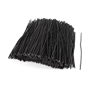 1000 Pcs Black PVC Tin Plated 0.3x120mm 26AWG Brushless Motor Wire