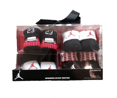 Nike Air Jordan Newborn Baby Booties, 4 Pair Gift Set, Size 0-6 Months