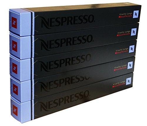 Nespresso Capsules - Vivalto Lungo Decaffeinato - 50 Capsules, 5 Sleeves - New Decaf variety (Nespresso Decaf Intenso Capsules compare prices)