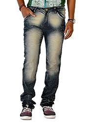 Jugend Green Stretchable washed Regular Fit jeans for men