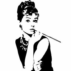 Amazon.com: Audrey Hepburn Breakfast at Tiffany's Wall