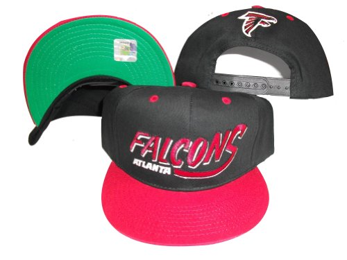 Atlanta Falcons Black/Red Two Tone Plastic Snapback Adjustable Plastic Snap