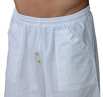 Cotton Natural Mens Elastic Waist Band Drawstring Peruvian