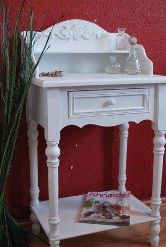 Sekretär klein antik weiß Landhaus Tisch Beistelltisch Ablage ...
