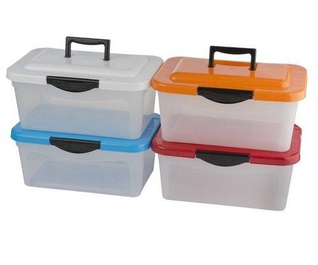 4-x-Aufbewahrungsbox-Aufbewahrungskiste-mit-Deckel-und-Tragegriff-stapelbar-Lagerbox-Stapelbox-Box-Ordnung-Aufbewahrung-Lagerung-7-Liter