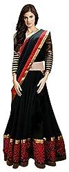 j and j fashion present black net lehenga choli