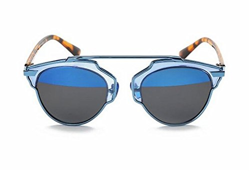 GAMT-occhiali da sole polarizzante metallo di modo Crossbar cateye piano riflettente Specchio