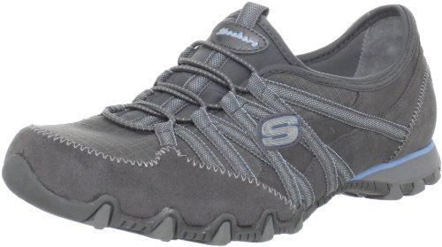 Skechers Womens Bikers Verified Trainers Gray Grau (GYLB) Size: 3.5 (36 EU)