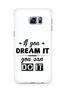 Amez If you can Dream it You can do it Back Cover For Samsung Galaxy S6 Edge Plus