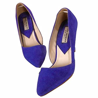 Angel Wings Sexy Vogue Pointed-toe Women Stiletto High Heels Shoes Pumps Mothers Day Gifts (Blue, EU39=US8=AU8=UK6)